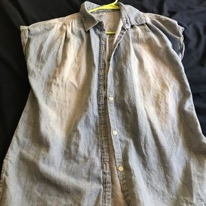 Old Navy Tops - Size small women's old navy short sleeve denim